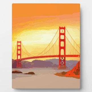 San Francisco Golden Gate Bridge Plaque