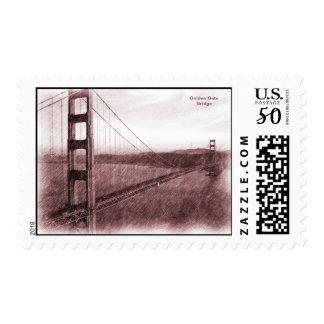 San Francisco Golden Gate Bridge Postage