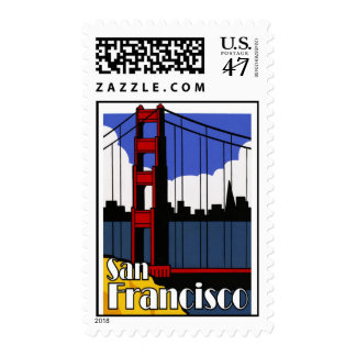 San Francisco golden gate bridge postage stamps