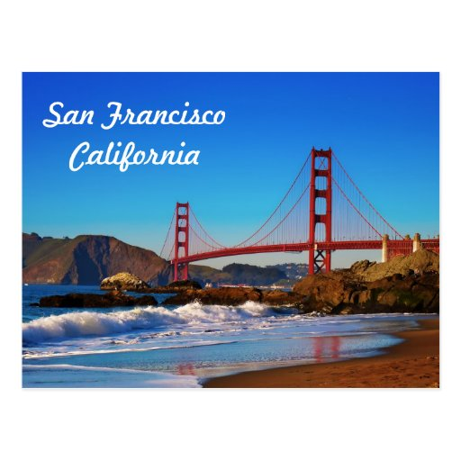 San Francisco Golden Gate Bridge Postcard Zazzle