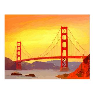 San Francisco Golden Gate Bridge Postcard