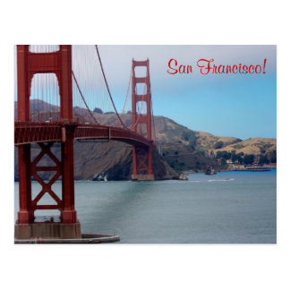 San Francisco, golden gate bridge Postcard