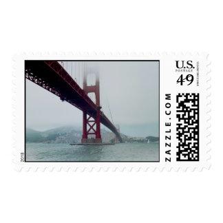 San Francisco Golden Gate Bridge - Postcard Stamp