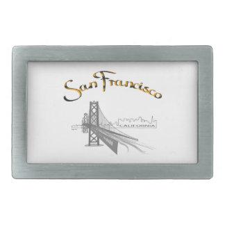 San Francisco, Golden Gate Bridge Rectangular Belt Buckle