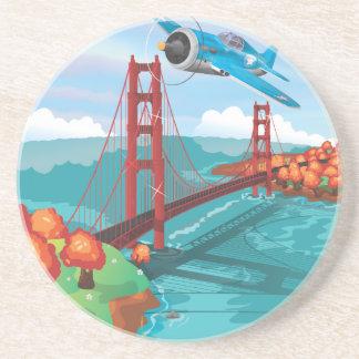 San Francisco Golden Gate Bridge Sandstone Coaster