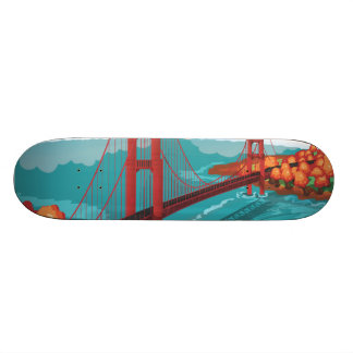 San Francisco Golden Gate Bridge Skateboard Deck