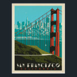 "San Francisco | Golden Gate Bridge Skyline Postcard<br><div class=""desc"">Anderson Design Group is an award-winning illustration and design firm in Nashville,  Tennessee. Founder Joel Anderson directs a team of talented artists to create original poster art that looks like classic vintage advertising prints from the 1920s to the 1960s.</div>"