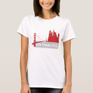 San Francisco Golden Gate Bridge Skyline Tee Shirt