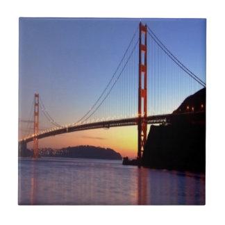 San Francisco, Golden Gate Bridge Small Square Tile