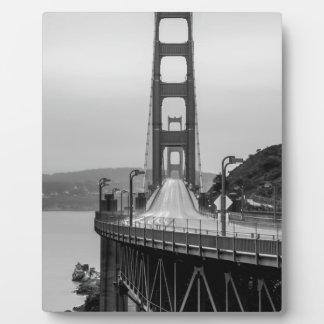 San Francisco Golden Gate Bridge Unique View Dark Plaque