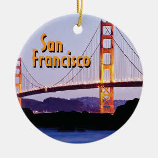San Francisco Golden Gate Ceramic Ornament