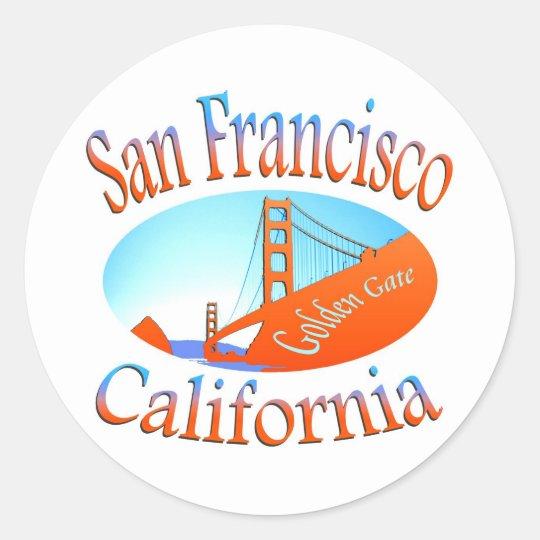 San Francisco Golden Gate Classic Round Sticker
