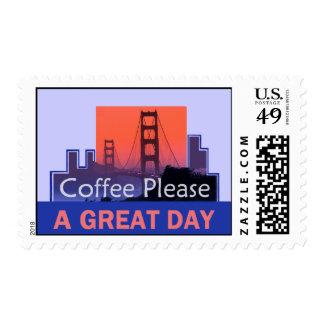 SAN FRANCISCO Golden Gate Coffee Please Postage