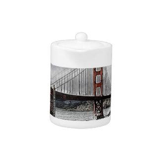 San Francisco Golden Gate Golden Gate Bridge Water Teapot