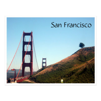 san francisco golden gate hill postcard