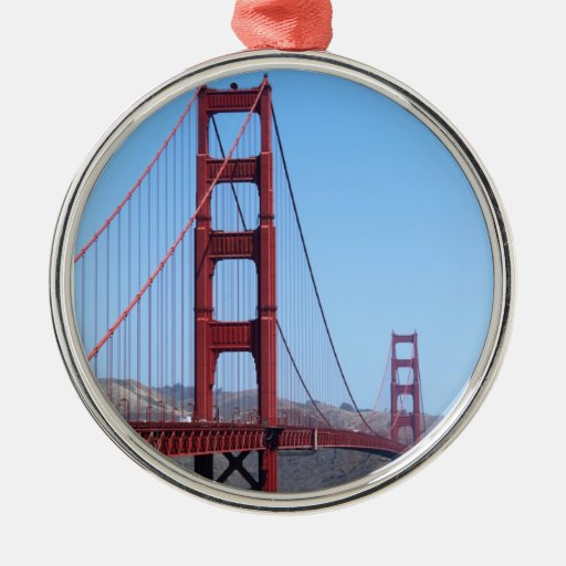San Francisco Golden Gate Metal Ornament
