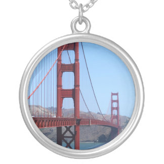 San Francisco Golden Gate Round Pendant Necklace