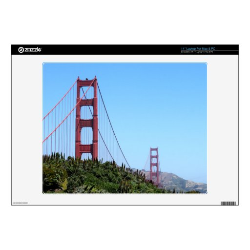 "San Francisco Golden Gate Skins For 14"" Laptops"