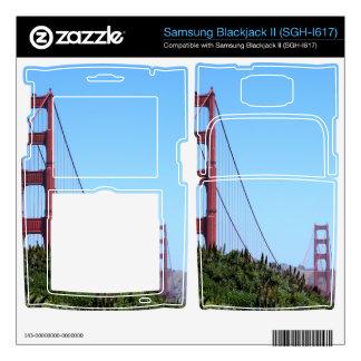 San Francisco Golden Gate Samsung Blackjack II Skin
