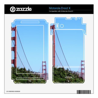 San Francisco Golden Gate Motorola Droid X Decals
