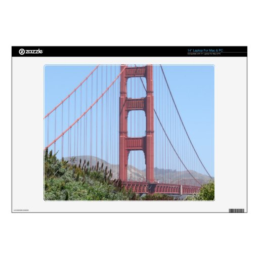 "San Francisco Golden Gate 14"" Laptop Skin"