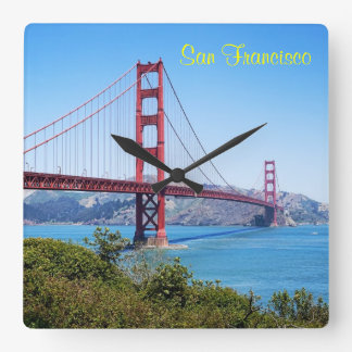 San Francisco Golden Gate Square Wall Clock