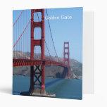 San Francisco Golden Gate Vinyl Binder