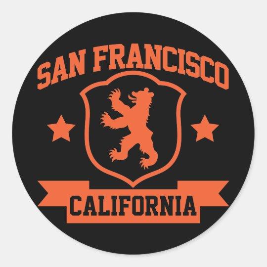 San Francisco Heraldry Classic Round Sticker
