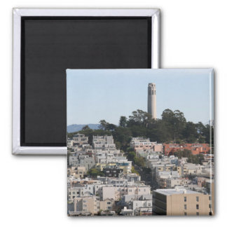 san francisco hill 2 inch square magnet