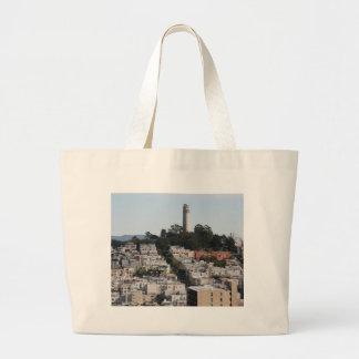 san francisco hill large tote bag
