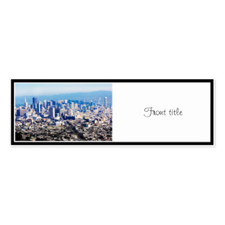 San Francisco Hill Top View Double-Sided Mini Business Cards (Pack Of 20)