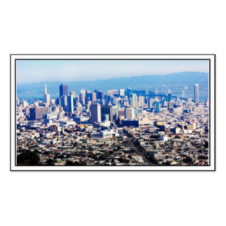 San Francisco Hill Top View Double-Sided Standard Business Cards (Pack Of 100)