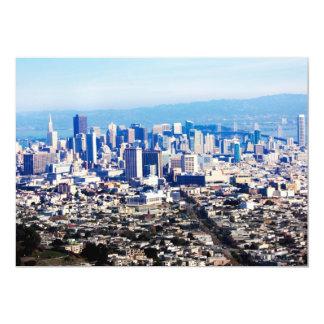 San Francisco Hill Top View 5x7 Paper Invitation Card