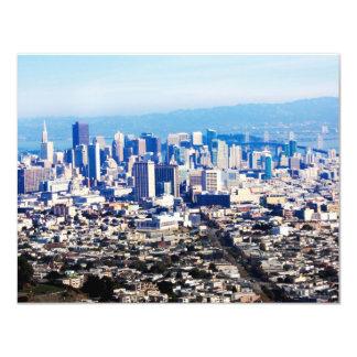 San Francisco Hill Top View 4.25x5.5 Paper Invitation Card