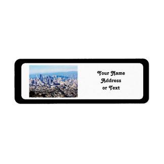 San Francisco Hill Top View Return Address Label