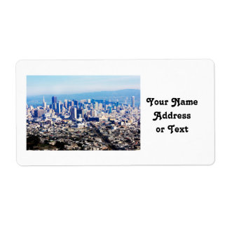 San Francisco Hill Top View Personalized Shipping Labels