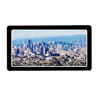 San Francisco Hill Top View Personalized Shipping Label