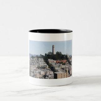 san francisco hill Two-Tone coffee mug