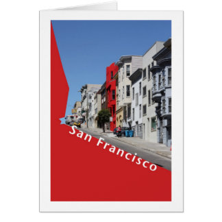 San Francisco Hilly Street Card