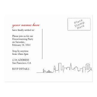San Francisco Housewarming or Moving Postcard