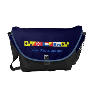 San Francisco_I Love To Sail_Signal Flags epaulet Courier Bag
