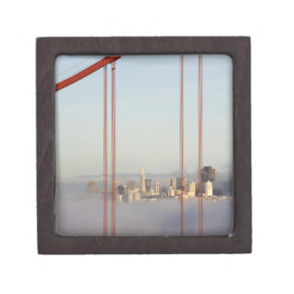 San Francisco in fog through Golden Gate Bridge Gift Box