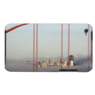 San Francisco in fog through Golden Gate Bridge iPod Touch Case