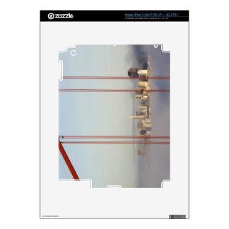 San Francisco in fog through Golden Gate Bridge Skins For iPad 3