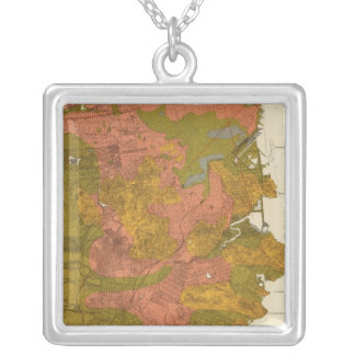 San Francisco intensity of earthquake Square Pendant Necklace