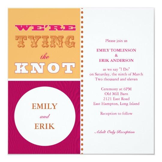 San Francisco Invitation: Berry Burst Card