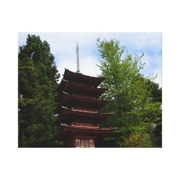 everydaylifesf San Francisco Japanese Tea Garden  Pagoda Canvas