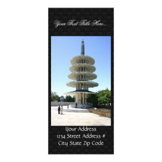 San Francisco Japantowns Peace Tower Full Color Rack Card