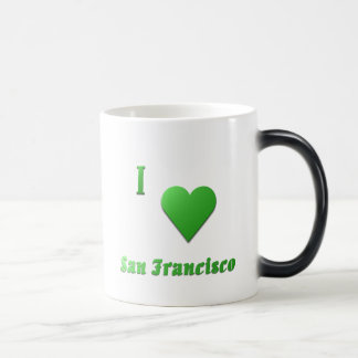 San Francisco -- Kelly Green Magic Mug
