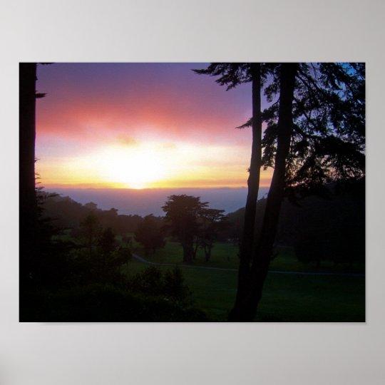 san francisco lands end sunset poster